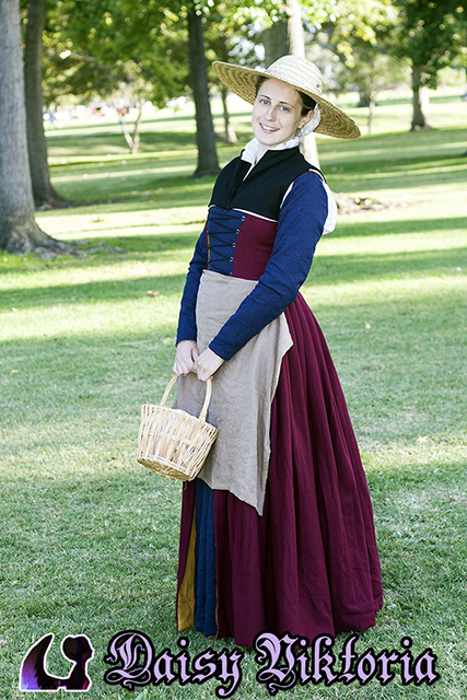 Flemish Working Class Gown – Faerie Queen Costuming