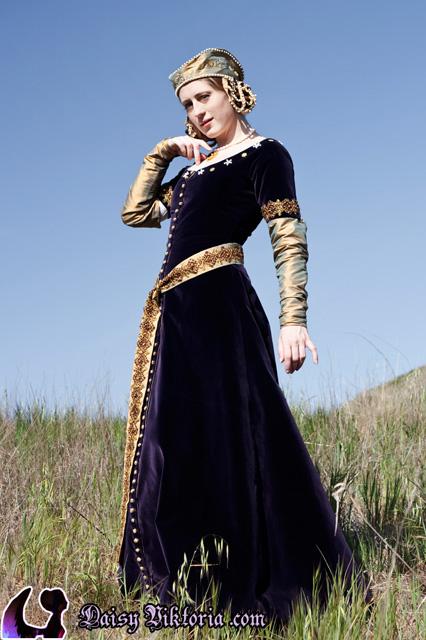 Purple Velvet Cotehardie Faerie Queen Costuming