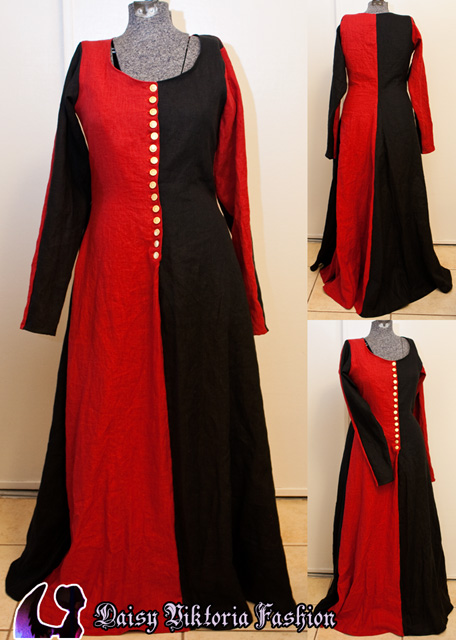 Red and Black Cotehardie – Faerie Queen Costuming