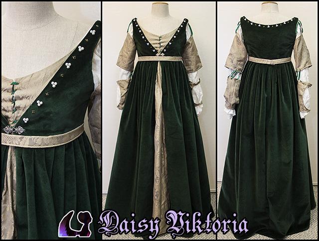 Green Velvet Venetian Renaissance Gown – Faerie Queen Costuming
