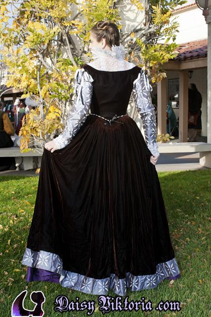 Burgundy Velvet Venetian Gown Faerie Queen Costuming